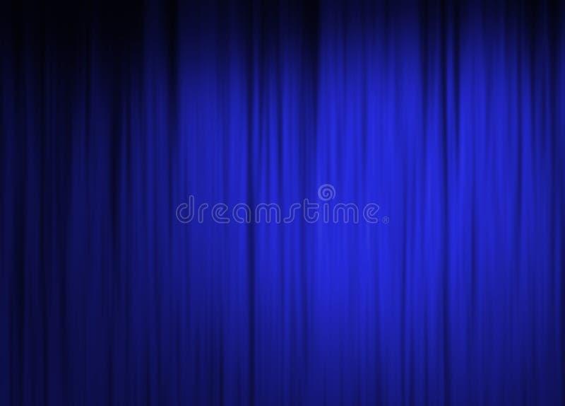 Blå etappgardinbakgrund royaltyfri illustrationer