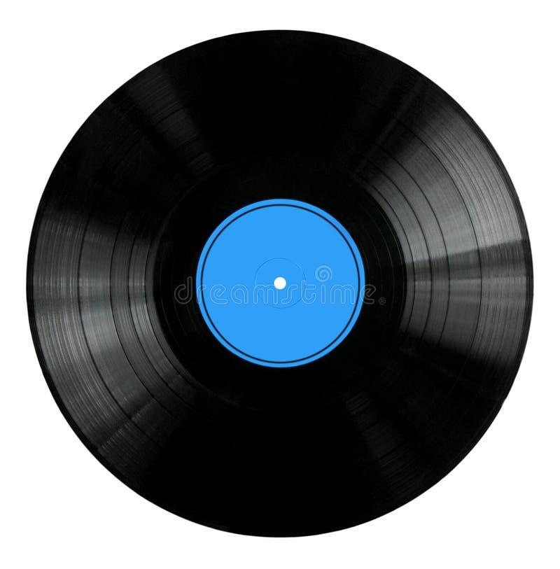 blå etikettregistervinyl arkivfoto