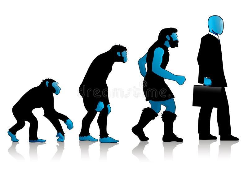 blå evolutionman för auroro royaltyfria foton