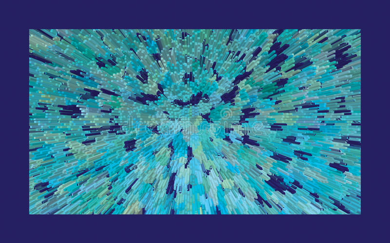 blå explosion arkivbild