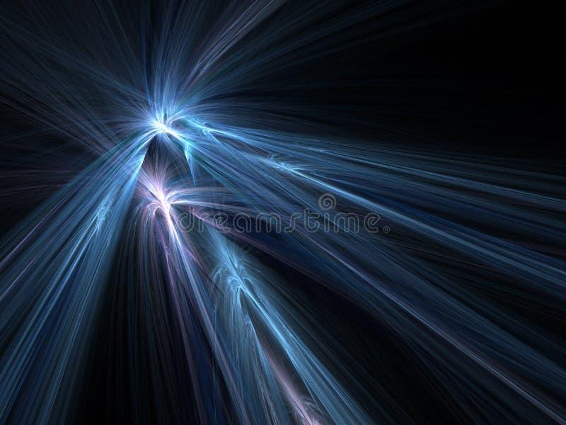 blå explosionnatt royaltyfri illustrationer