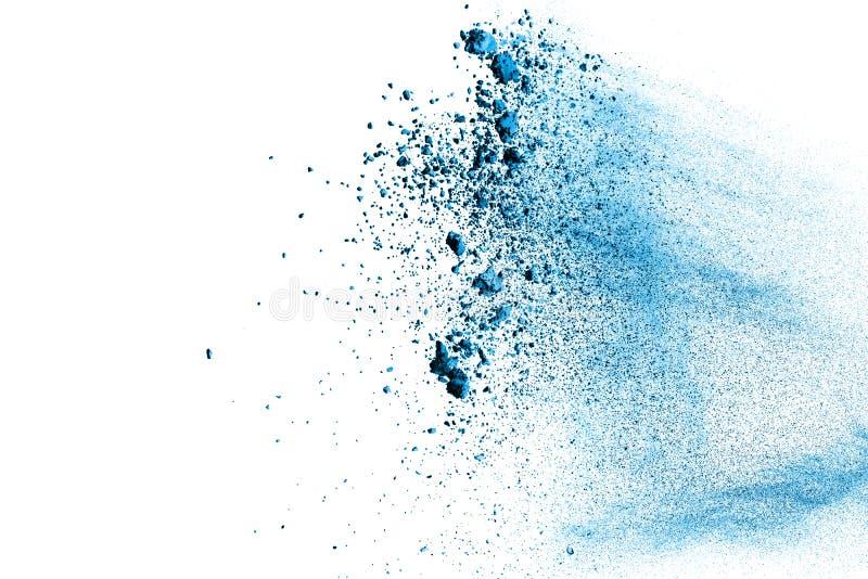 Blå färgpulverfärgstänk arkivbilder