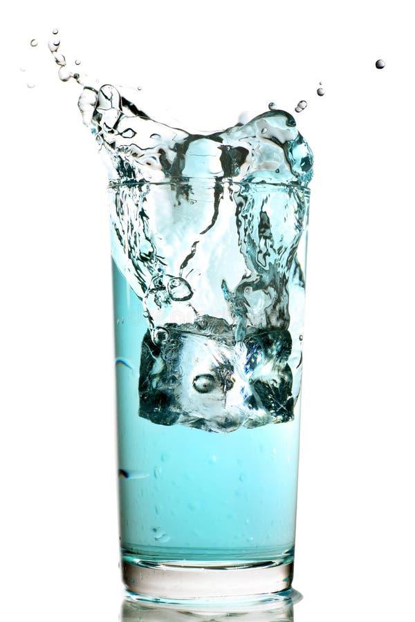 blå färgstänk arkivfoton