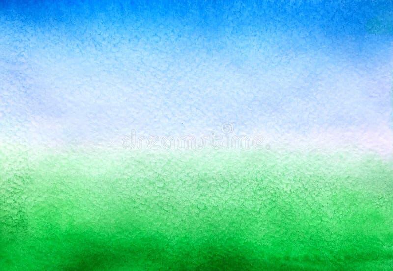 Bl? f?r himmel och gr?n bakgrund arkivfoto