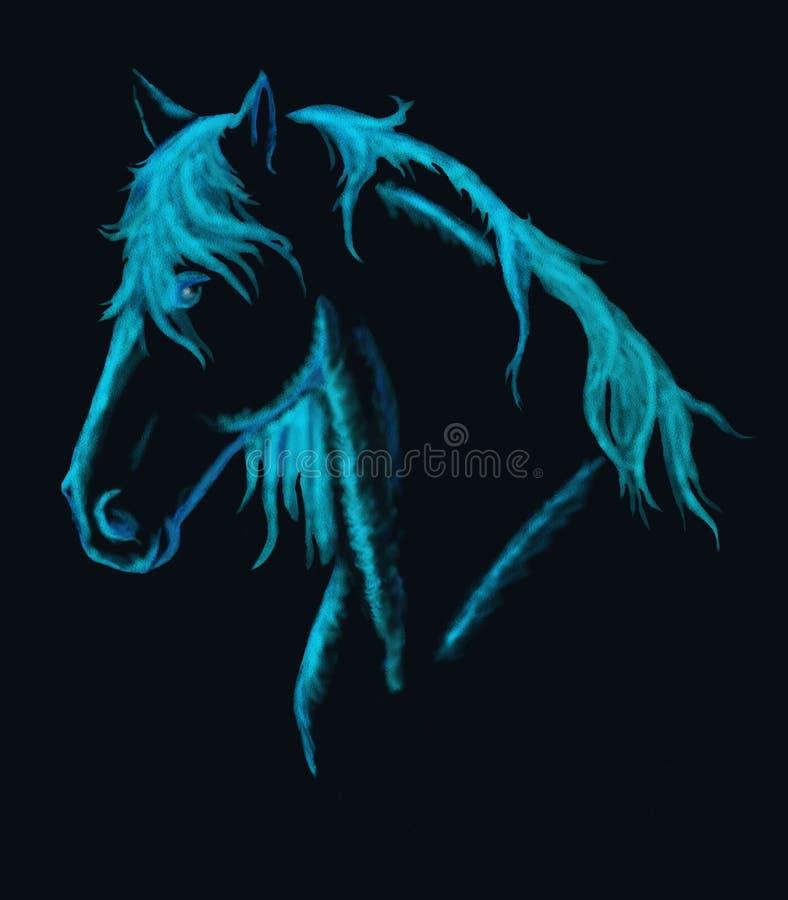 blå fantasihäst vektor illustrationer