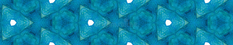 Blå fjäder, sömlös kantlinje Geometriskt vatten vektor illustrationer