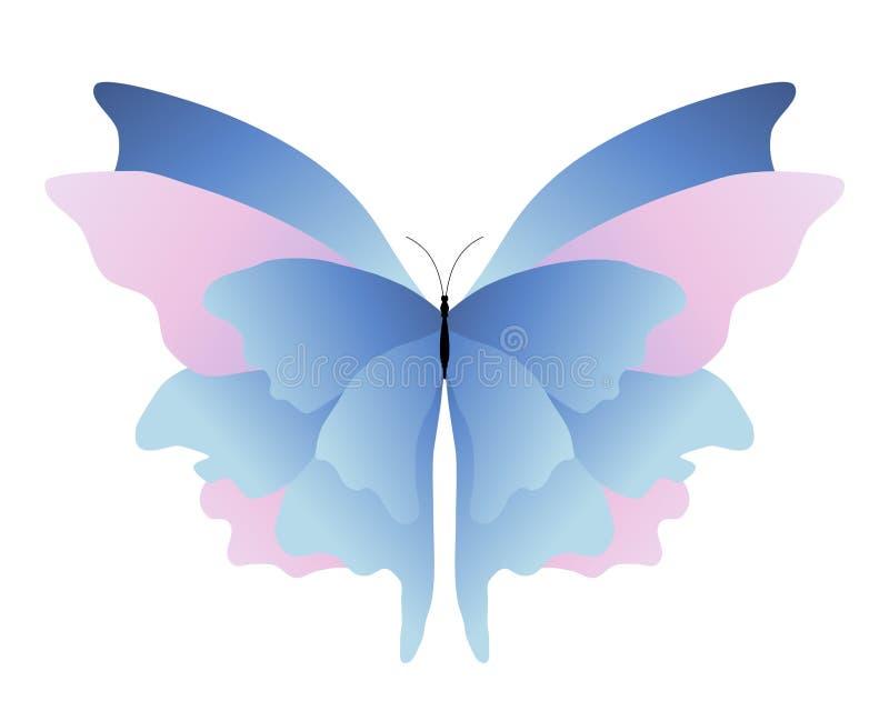 blå fjärilspink vektor illustrationer