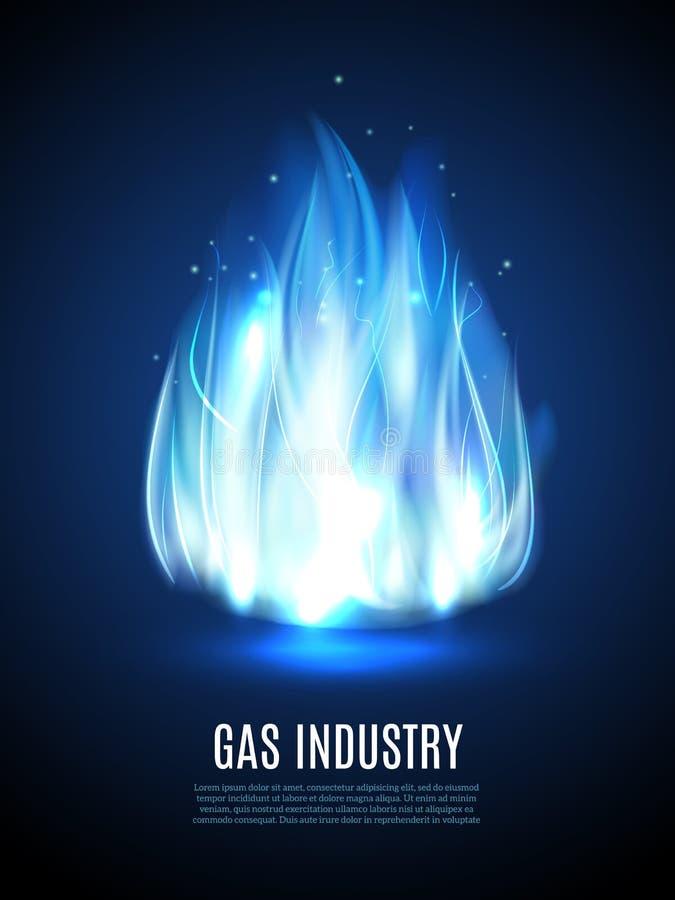 blå flamma för bakgrund royaltyfri illustrationer