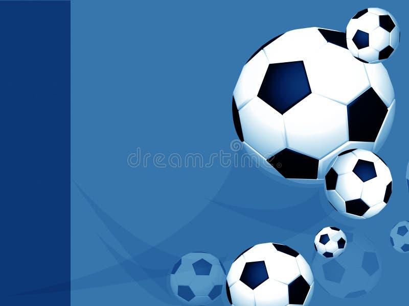 blå fotboll för fotbollorienteringsprofessionell vektor illustrationer