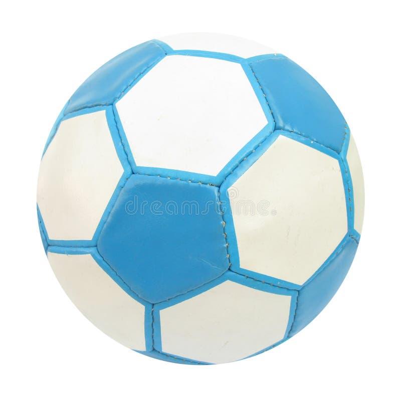 blå fotbollfotboll för boll royaltyfri foto