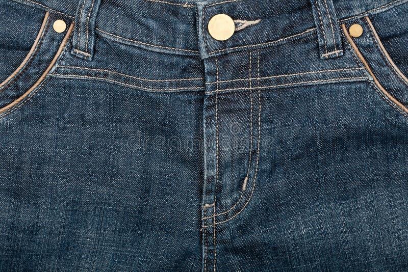 blå främre jeans arkivbild