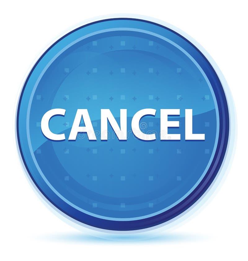 Blå främsta rund knapp för annulleringsmidnatt royaltyfri illustrationer