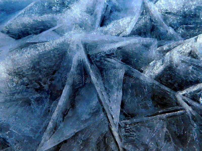 Blå is från sjön royaltyfri foto