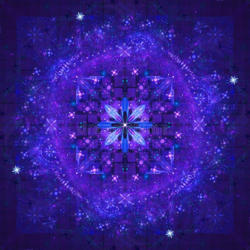 blå fractal royaltyfri foto