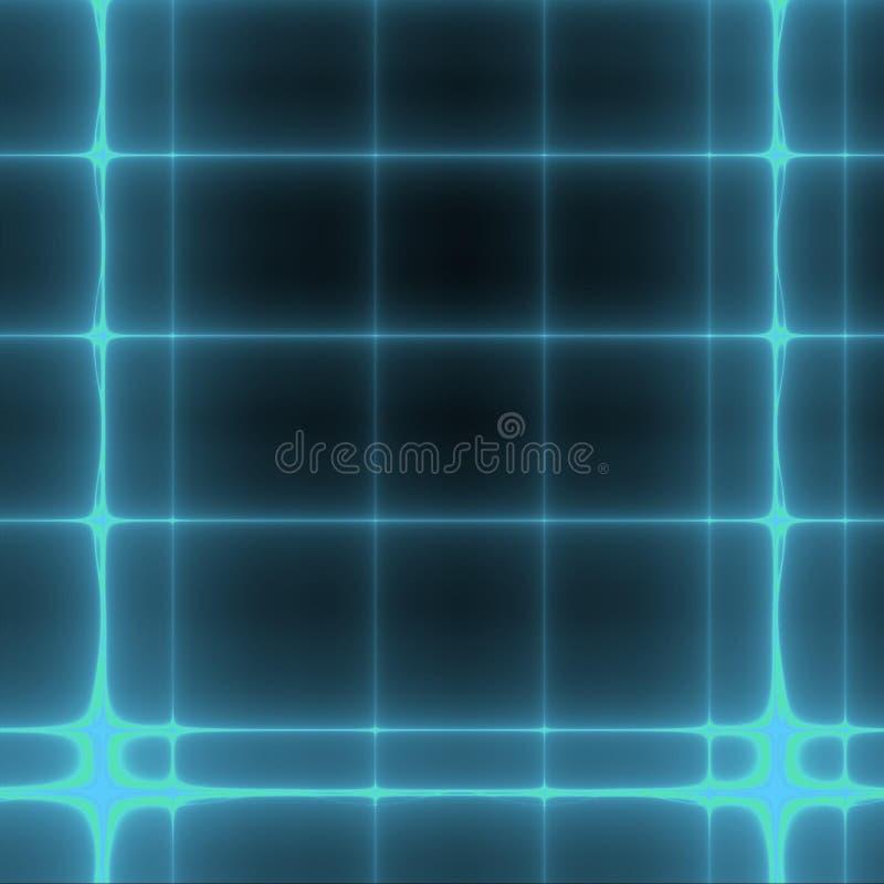 blå fractal royaltyfri illustrationer