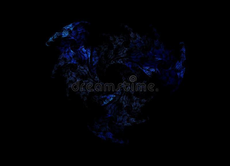 Blå fractalstjärna arkivbilder