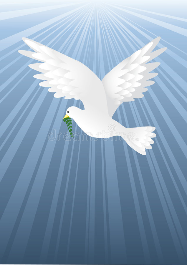 blå fred royaltyfri illustrationer