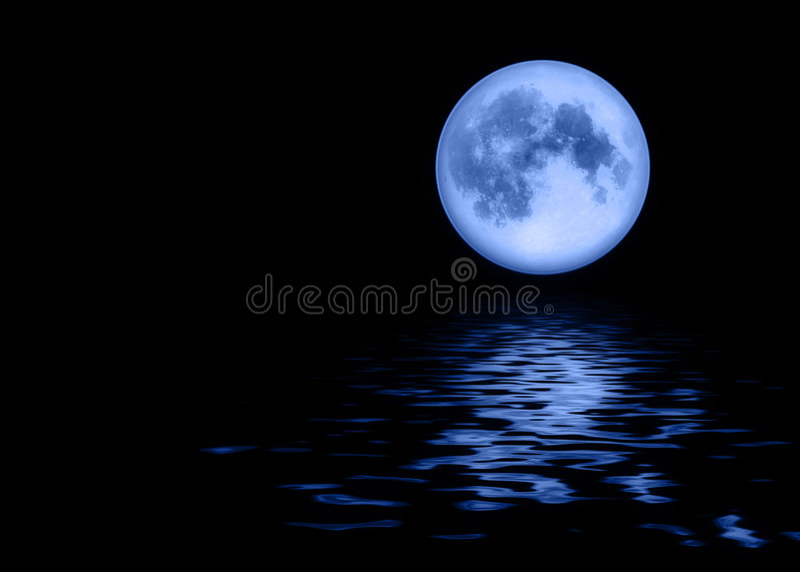 blå fullmåne vektor illustrationer