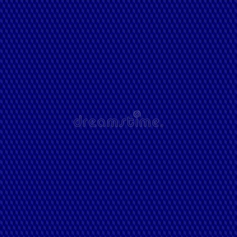 Blå fyrkantig sömlös modell Ändlös bakgrund med geometriska former, 3d kvadrerar vektor illustrationer