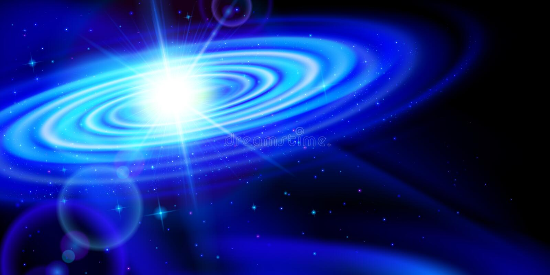 blå galax stock illustrationer
