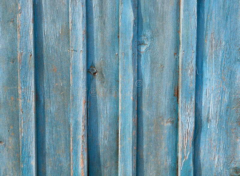 Blå gammal textur för träbrädelantgårdbakgrund royaltyfri fotografi