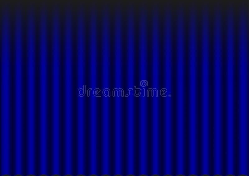 blå gardinsammet royaltyfri illustrationer