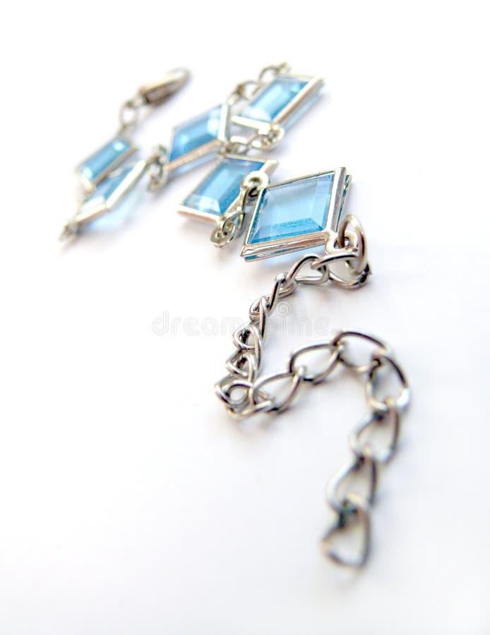 blå gem royaltyfri foto