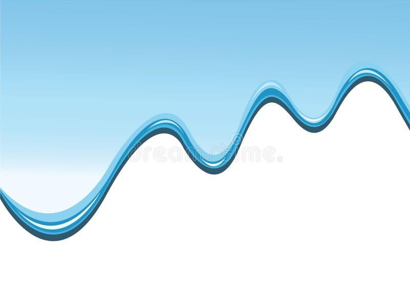 blå genomblöt målarfärg för bakgrund stock illustrationer