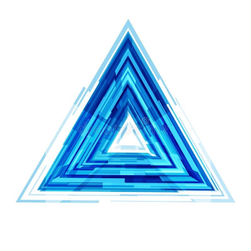 Blå geometrisk triangeldesign för Digital teknologi, sh rektanglar royaltyfri illustrationer