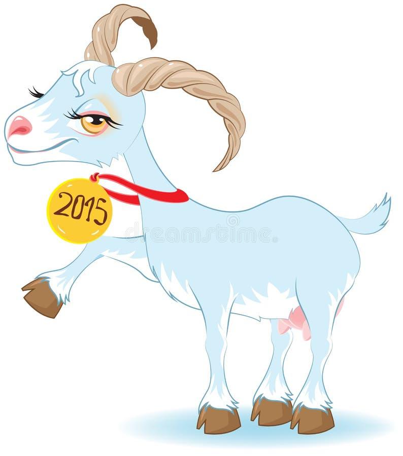 Blå get, symbol 2015 stock illustrationer