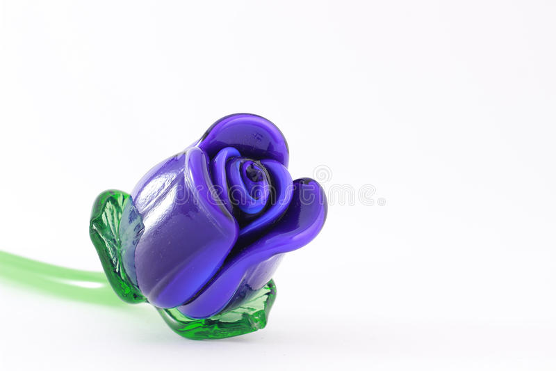 Blå glass tulpan royaltyfria bilder