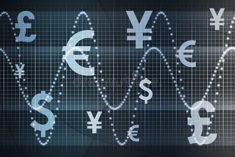 blå global affärsvaluta för abstrakt bakgrund vektor illustrationer