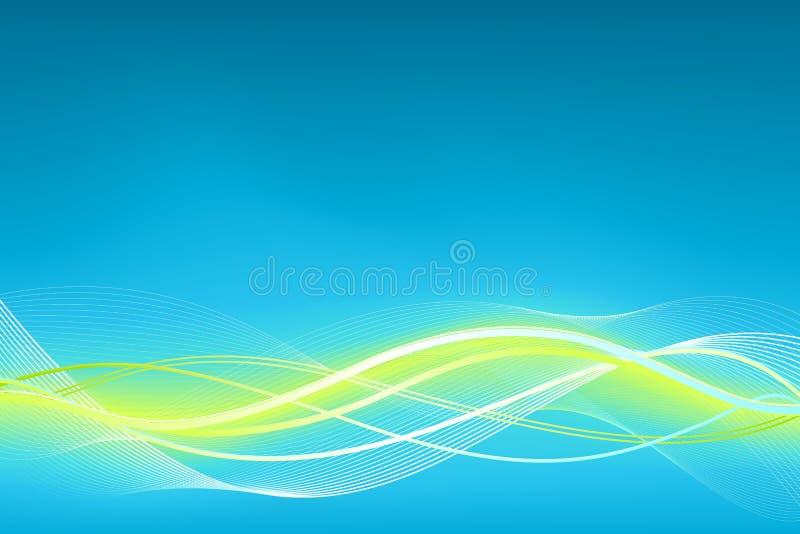 blå grön wave för bakgrund stock illustrationer