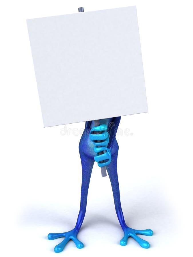 blå groda royaltyfri illustrationer