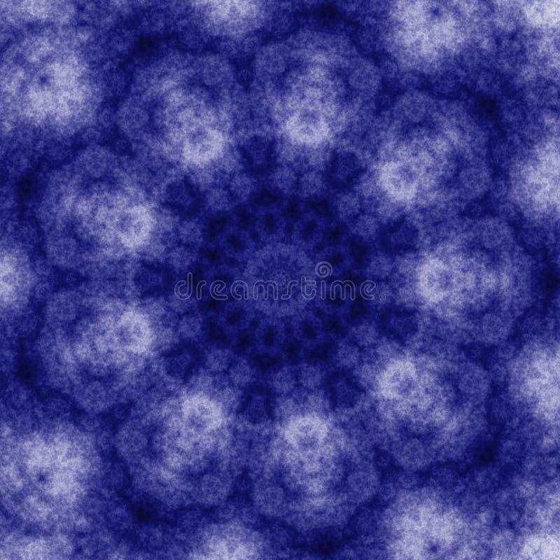 blå grungekaleidoscopetegelplatta vektor illustrationer