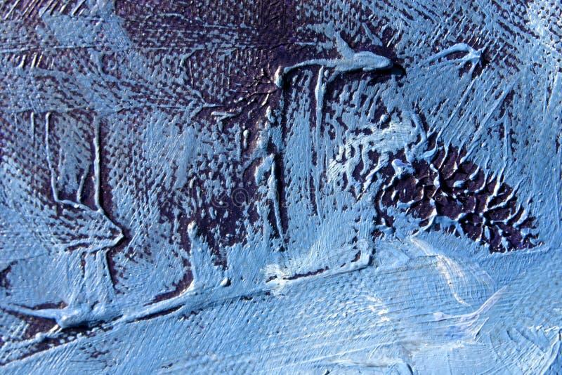 blå grungelook som oilpainting arkivfoto