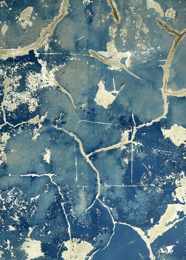 blå grungevägg fotografering för bildbyråer