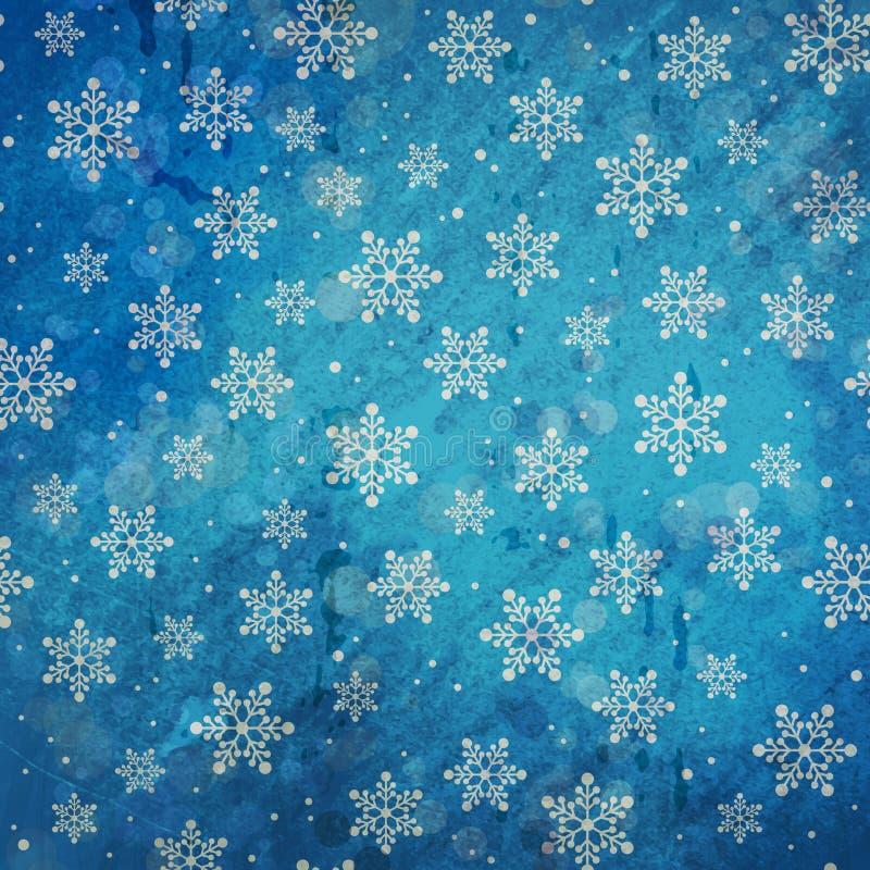blå grungevinter för bakgrund stock illustrationer