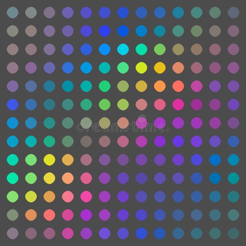 Blå gul rosa grå hologrammosaikbakgrund Idérik ferieillustration vektor illustrationer