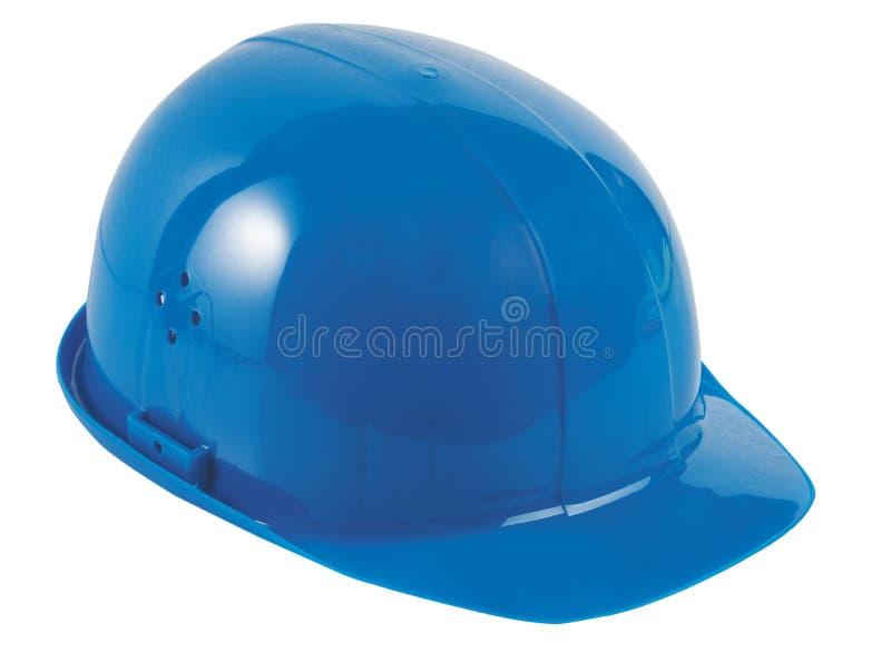 blå hård hatt royaltyfri bild
