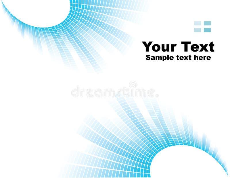 blå hörnflamma stock illustrationer