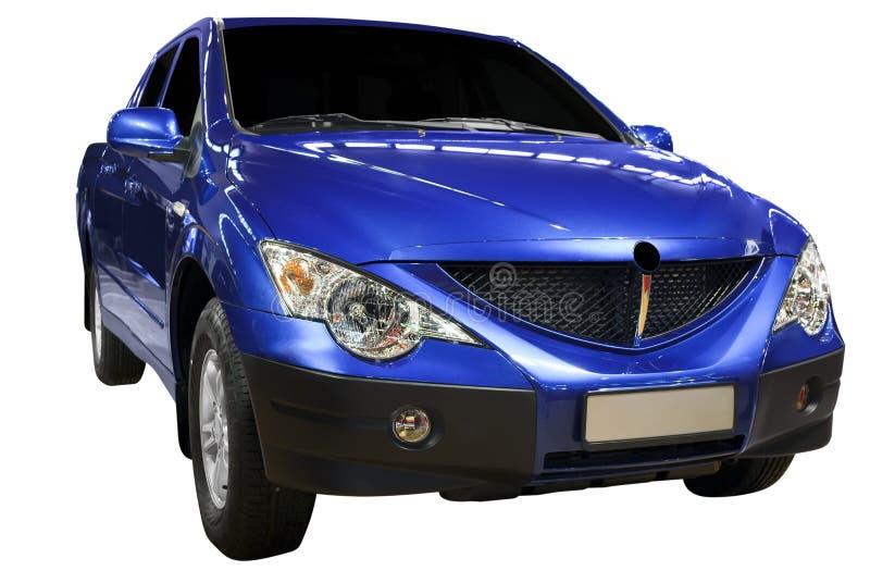 blå hackalastbil upp royaltyfria bilder