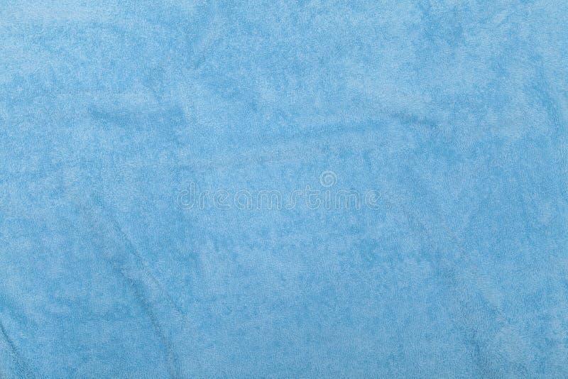 Blå handdukbakgrund arkivfoto