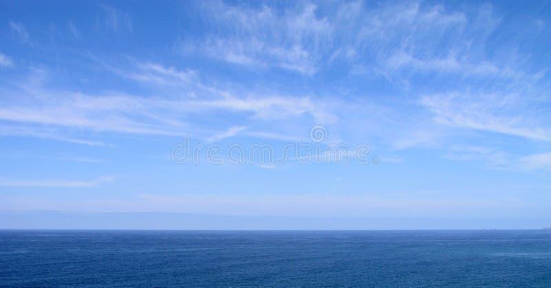 blå havssky royaltyfri foto