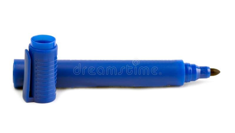 Blå highlighter   fotografering för bildbyråer