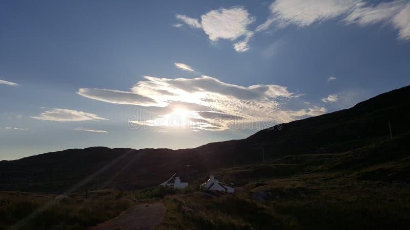 Blå himmel harris arkivbilder
