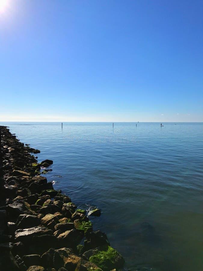 blå horisont royaltyfri fotografi
