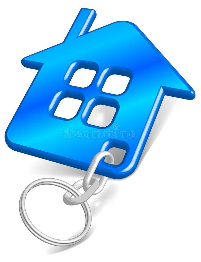 blå husbillig prydnadssak royaltyfri illustrationer