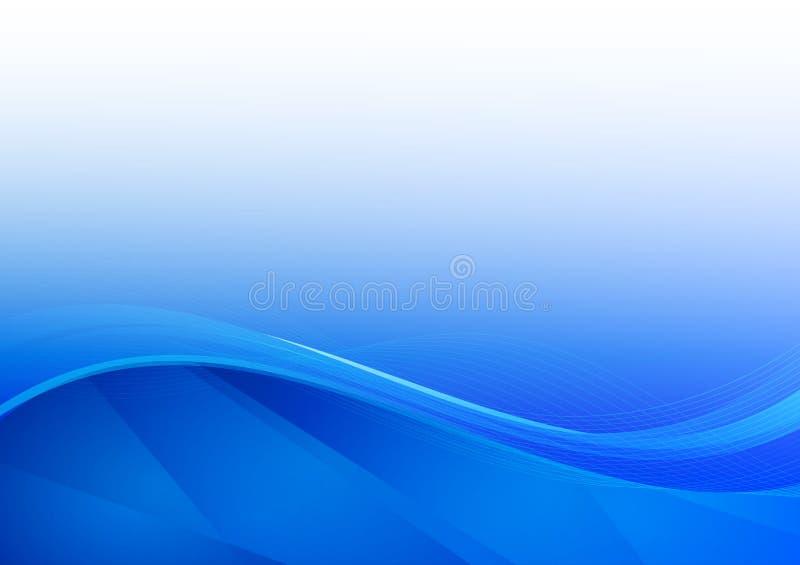 Blå illustration för vektor för vågabstrakt begreppbakgrund