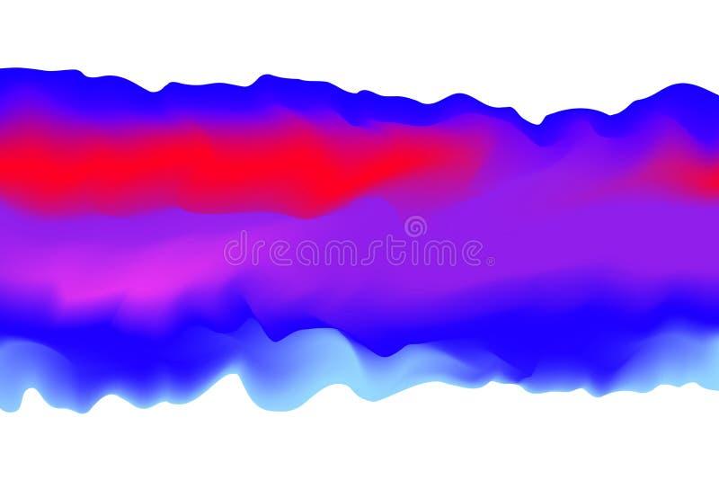 Blå illustration och purpurfärgade rosa färger som är mjuka i stil för konst för begreppsvattenfärg, för färgmålning för abstrakt royaltyfri illustrationer